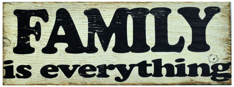 FAMILY is everything | Handcrafted Distressed Wood Sign The Maples' Tree