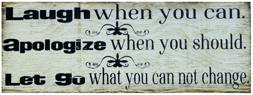 Laugh When You Can | Handcrafted, Distressed Wood Sign The Maples' Tree