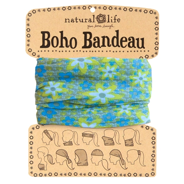Blue/ Green Boho Bandeau Buff The Maples' Tree