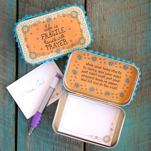 Life is Fragile Prayer Box by Natural Life The Maples' Tree