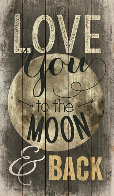 Love You To The Moon And Back Pallet Art Maples Tree