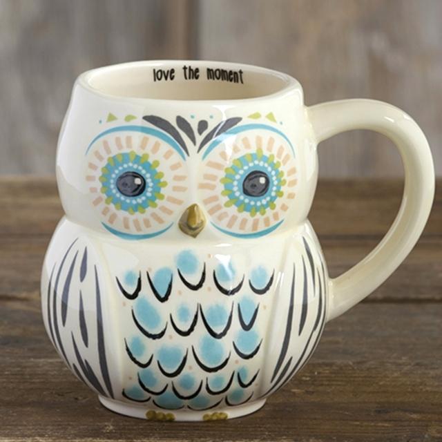 Love The Moment - Folk Art Owl Mug The Maples' Tree
